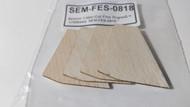 Semroc Laser-Cut Fins Rogue™  1/16 Balsa(4F)  SEM-FES-0818 *