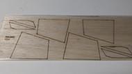 Semroc Laser-Cut Fins EAC Viper™   1/16 Balsa Sheet SEM-FES-0820 *