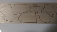 Semroc Laser-Cut Fins Zoom Broom™  3/32 Balsa  Sheet SEM-FES-0853 *