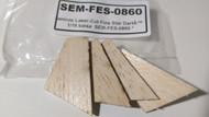 Semroc Laser-Cut Fins Star Dart™   1/16 balsa  SEM-FES-0860 *