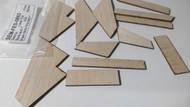Semroc Laser-Cut Fins Starliner™ 3/32 Balsa   Sheet SEM-FES-0863 *