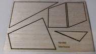 Semroc Laser-Cut Fins Star Warrior™   3/32 Balsa Sheet SEM-FES-0895 *