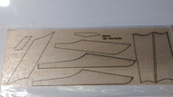 Semroc Laser-Cut Fins Patrol Cruiser™  3/32 Balsa  Sheet SEM-FES-1339 *