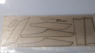 Semroc Laser-Cut Fins Estes Patrol Cruiser™  3/32 Balsa  Sheet SEM-FES-1339 *