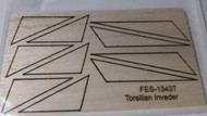 Semroc Laser-Cut Fins Torellian Invader™   3/32 Balsa Sheet SEM-FES-1343T *