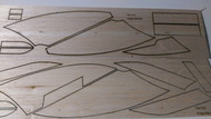 Semroc Laser-Cut Fins Dragon Ship™ (Sheet A/B) 3/32 Balsa  SEM-FES-1345 *