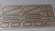 Semroc Laser-Cut Fins Mercury Redstone™ 1/8 Balsa  SEM-FES-K41 *