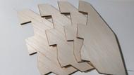Semroc Laser-Cut Fins V-2™ (4 fins) 1/8 Balsa   SEM-FES-1926 *