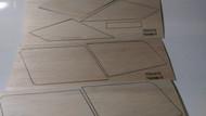 Semroc Laser-Cut Fins Farside X™ (9 pcs 1/16 Balsa plus 1 pcs 1/8 standoff)  SEM-FV-95 *