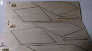 Semroc Laser-Cut Fins Delta™ 3/32 Balsa(Set of 3)  SEM-FES-K16 *