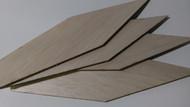 Semroc Laser-Cut Fins K-23 Big Bertha™ (4 fins)1/8 Balsa  SEM-FES-K23 *