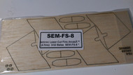 Semroc Laser-Cut Fins Arcas™ (4 fins)  3/32 Balsa  SEM-FS-8 *