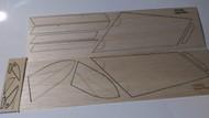 Semroc Laser-Cut Fins Space Plane™  Sheet A/B 1/16 Balsa Sheet C 3/32 Balsa  SEM-FES-K3 *