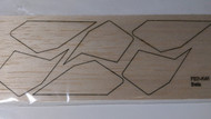 Semroc Laser-Cut Fins Beta™ 3/32 Balsa  SEM-FES-K45 *