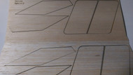 Semroc Laser-Cut Fins Apogee II™ (Set of 2)1/16 Balsa  SEM-FES-K5 *