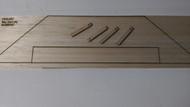 Semroc Laser-Cut Fins Sky Dart™ (Sheet A/B/C/D 3/32 Balsa)   SEM-FES-K57 *