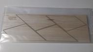 Semroc Laser-Cut Fins Vigilante™ (8 Fins) 3/32 Balsa  SEM-FES-K78 *