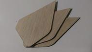 Semroc Laser-Cut Fins Arrow-C™ 1/16 Balsa  SEM-FES-P001 *