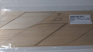 Semroc Laser-Cut Fins Black Knight™  1/16 Balsa SEM-FES-P071 *