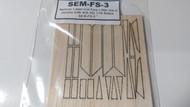 Semroc Laser-Cut Fins Little Joe II™ (works with IKS-3S) 1/16 Balsa  SEM-FS-3 *