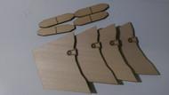 Semroc Laser-Cut Fins Pro Arcas™ (Sheet A 1/8 Basswood,B 3/32 Basswood)   SEM-FS-5 *