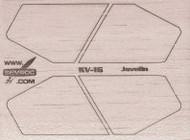Semroc Laser-Cut Fins Javelin™   3/32 Balsa  SEM-FV-16 *