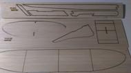 Semroc Laser-Cut Fins Swift-BG™  Sheet A/B 1/16 Balsa C 1/4 Balsa SEM-FV-27 *