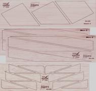 Semroc Laser-Cut Fins Hydra VII™  3/32 Balsa(21 fins)  SEM-FV-29 *