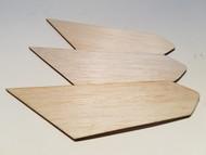 Semroc Laser-Cut Fins Scrambler™  (Set of 3)   1/8 Balsa SEM-FV-34 *