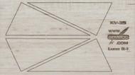 Semroc Laser-Cut Fins Lune R-1™   3/32 Balsa SEM-FV-35 *