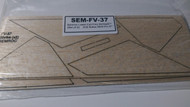 Semroc Laser-Cut Fins Shrike™ (Set of 2)  3/32 Balsa SEM-FV-37 *