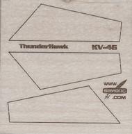 Semroc Laser-Cut Fins ThunderHawk™   3/32 Balsa SEM-FV-46 *