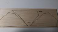Semroc Laser-Cut Fins OSO™ 3/32 Balsa   SEM-FV-62 *