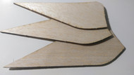 Semroc Laser-Cut Fins Trident™  3/32 Balsa  SEM-FV-71 *