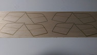 Semroc Laser-Cut Fins Nighthawk™  Sheet A/B 1/8 Balsa Sheet C 1/16 Balsa  SEM-FV-74 *