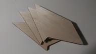 Semroc Laser-Cut Fins Enerjet Athena™ 1/8 balsa  SEM-FV-75 *