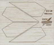 Semroc Laser-Cut Fins Micron™   3/32 Balsa SEM-FV-8 *