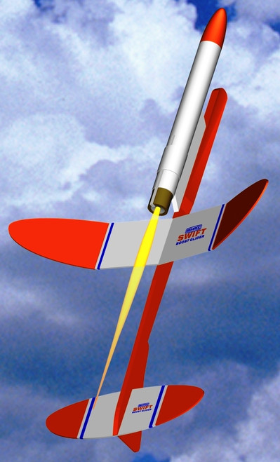Semroc Flying Model Rocket Kit Swift Boost Glider KV-27