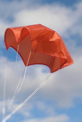 "Top Flight Parachute Competition Orange 12"" Thin Rip Stop Nylon  PAR-12TM"