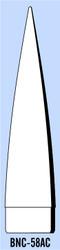 "Semroc Balsa Nose Cone BT-58 6.1"" Secant Conical   SEM-BNC-58AC"
