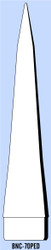 "Semroc Balsa Nose Cone BT-70 11.6"" Ogive   SEM-BNC-70PED *"
