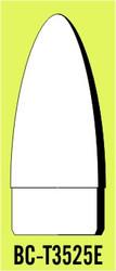 """Semroc Balsa Nose Cone T35 2.5"""" Elliptical   SEM-BC-T3525E"""