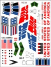 Semroc Decal - USS America™ Printed on White Decal Paper   SEM-DKV-77 *