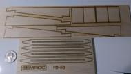 Semroc Laser-Cut Fins Phoenix AIM-54C™ (BT-58) Sheet A 1/16 Basswood, Sheet B 3/16 Balsa  SEM-FD-6 *