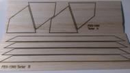 Semroc Laser-Cut Fins Tartar™ (Sheet A/B) 3/32 Balsa  SEM-FES-1360 *