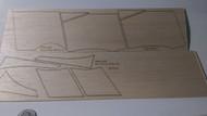 Semroc Laser-Cut Fins Starship Nova™  (Sheet A/B 3/32 Balsa)  SEM-FES-1371 *