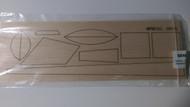 Semroc Laser-Cut Fins USS Atlantis™ 3/32 Balsa   SEM-FES-K83 *