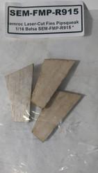 Semroc Laser-Cut Fins Pipsqueak™   1/16 Balsa SEM-FMP-R915 *