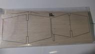 Semroc Laser-Cut Fins Omega™ 1/8 Balsa(2 sheets)  SEM-FV-64 *