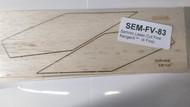 Semroc Laser-Cut Fins Ranger™ (4 fins)3/32 Balsa (Estes 1955 fins) SEM-FV-83 *